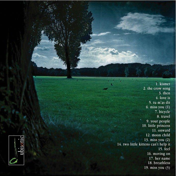 """Die Rückseite des """"Grounded""""-Booklets: Krähen, wunderschöne Krähen. Foto von S. Jordan."""